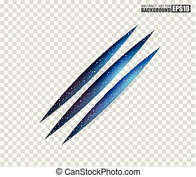 Claws scratches - vector isolated on transparent background. Claws scratching animal (cat, tiger, lion, bear) illustration