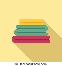 Clean clothes stack icon. Flat illustration of Clean clothes stack vector icon for web design