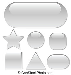 Clear Buttons isolated on a white background