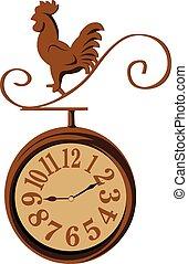 clock chicken vintage