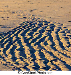 Close up of the sand on a beach