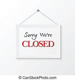 Closed sign vector illustration