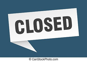 closed speech bubble. closed sign. closed banner