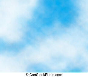 Editable vector background detail of white clouds in a blue sky