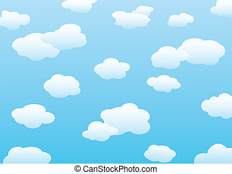 Clouds background. Vector for you design