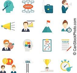 Coaching Business Icon Flat