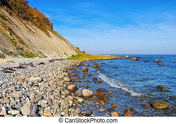 coast Kap Arkona, Ruegen Island in Germany