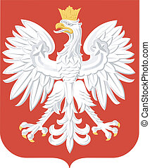 national arms of Poland on a white background