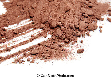 cocoa powder isolated on a white background