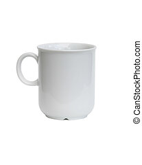 A coffee cup isolated on white