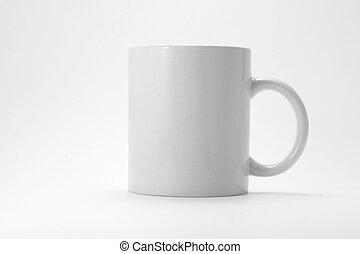 Coffee mug with gray background