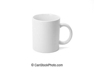Coffee mug with white background