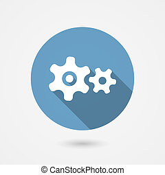 cog gear or cogwheel icon for settings and development