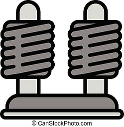 Coil stand icon, outline style