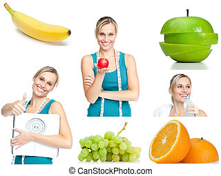 Collage about healthy lifestyle