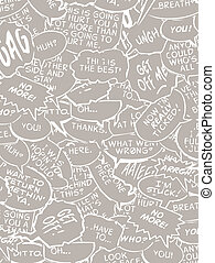 Reserve comic book bubble dialogue in white and gray editable vector illustration