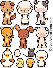 Collection of Adorable Pet Character