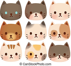 Collection of Cute Cat - Vector File EPS10