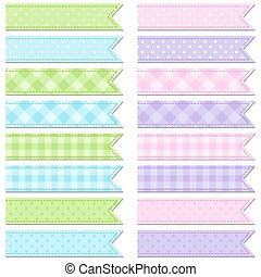 Collection of cute tape stripes