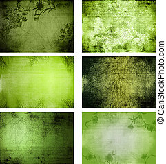 collection of 6 grunge background textures