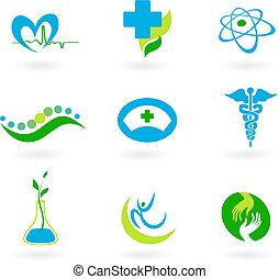 A set of icons - health and medicine theme