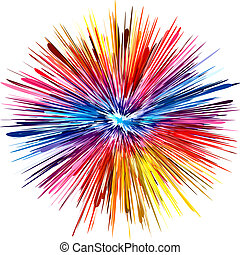 Abstract color explosion as symbol for creativity and spontaneity