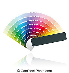 Detailed vector illustration of an open color fan