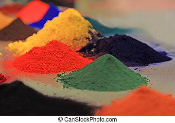 Dry Pigments Powder for the Preparation of Different Colours