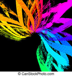 colorful abstract grunge background, vector EPS 10
