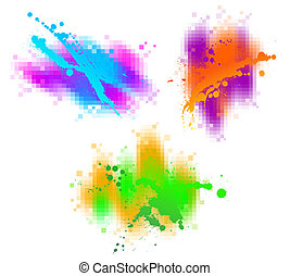 Colorful abstract vector design elements