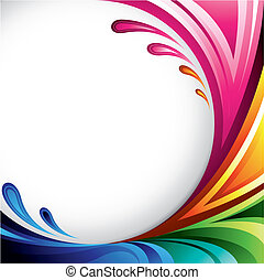 A splash of various colors - Background design for your text