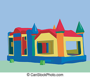 illustration of a bounce castle often used for childrens birthday parties