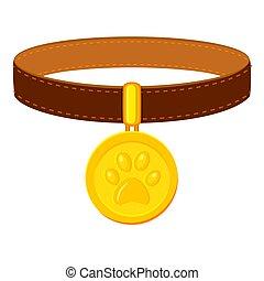 Colorful cartoon pet collar