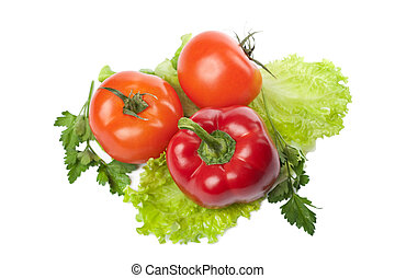 colorful fresh vegetables isolated