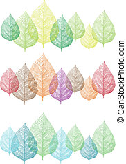 colorful leaves, vector set