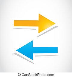 colorful paper arrow labels