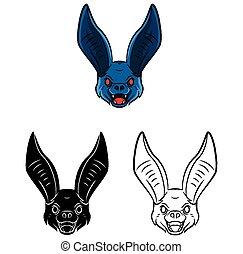 Coloring book Bat character