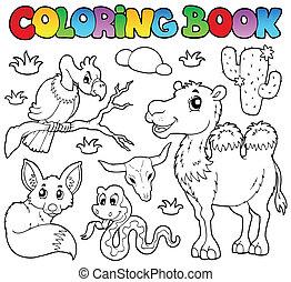 Coloring book desert animals 1