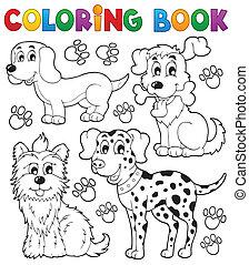 Coloring book dog theme 5