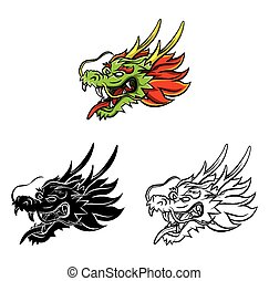 Coloring book Dragon character
