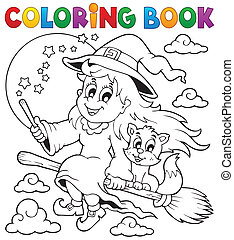 Coloring book Halloween image 1 - eps10 vector illustration.