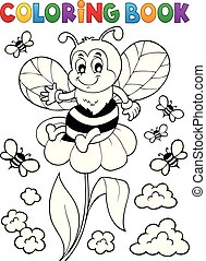 Coloring book happy bee theme 3