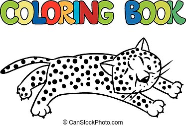 Coloring book of little cheetah