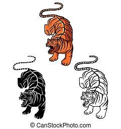 Coloring book Tiger caracter