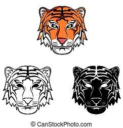Coloring book tiger character