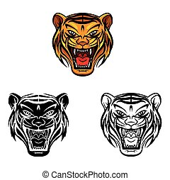 Coloring book Tiger Face character