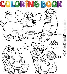 Coloring book with pets