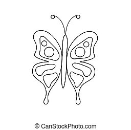 Coloring Page for Children Butterfly