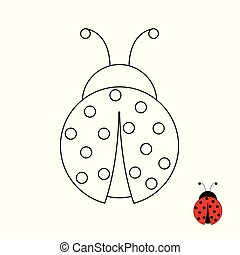 Coloring Page for Children Ladybug