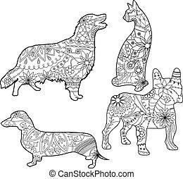 Coloring set pets
